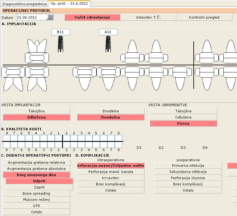 Kartoteka - Operacijski protokol