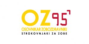 Logo OZ 95 Pantone belo ozadje